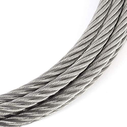 Edelstahldrahtseil INOX V4A A4 rostfrei Seil Draht Stahl Edelstahlseil 0,64/€//m Drahtseil EDELSTAHL Stahlseil 3mm 20m 7x7