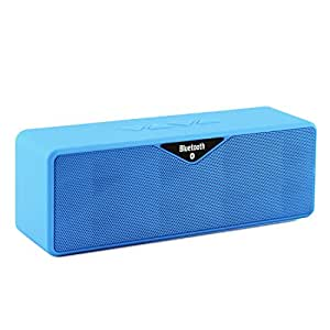 LB1 High Performance New Wireless Bluetooth Mini Speaker for Huawei Ascend P1 XL U9200E Dual-Speaker Music System with Built-in Microphone and Micro SD card slot (Blue)