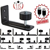 BARN Door Floor Guide Wall Mount Adjustable Roller Stay Guide with 15 Unique setups, Premium Wheel Bearing Prevents Wobble and Noise, Sits Flush to Floor, Non-Scratch Wheels, Built to Last!
