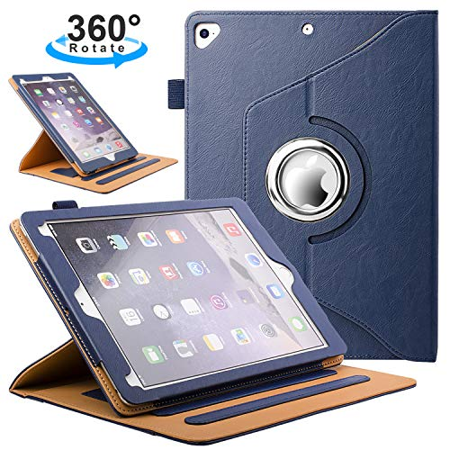ZoneFoker New iPad Air 3 10.5 inch 2019 Tablet Leather Case, 360 Degree Rotating Multi-Angle Viewing Auto Sleep/Wake Folio Stand Cases with Pencil Holder for iPad Air3 3rd Generation - Blue