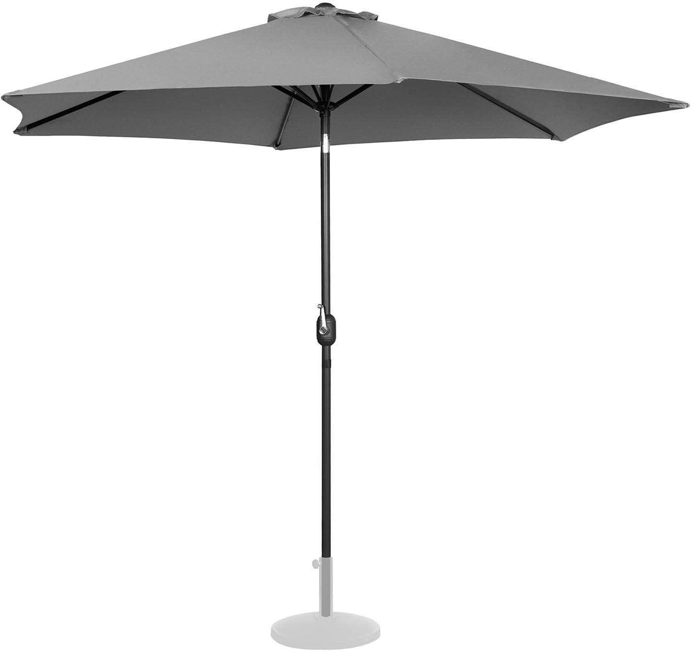 Arancione, Esagonale, Inclinabile, /Ø 300 cm Uniprodo Ombrellone da Esterno Grande Ombrello da Giardino Uni/_Umbrella/_TR300OR