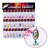 Sougayilang Fishing Lures Saltwater Freshwater Spinner Spoons Tackle Baits
