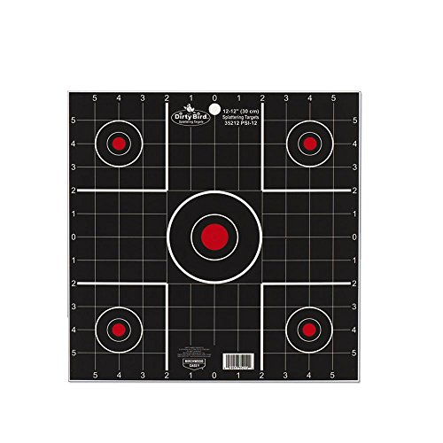Birchwood Casey 35270 Dirty Bird 12in Sight in Target-100 Targets, Black