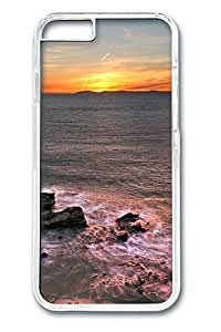 iphone 6 4.7inch Case and Cover Beautiful ocean sunset PC case Cover for iphone 6 4.7inch transparent
