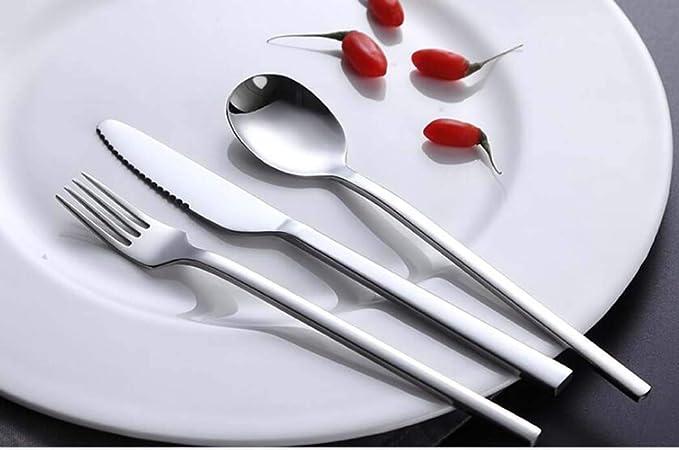 Amazon.com: CY&Y Western Tableware Cutlery Set Thick Stainless Steel Steak Cutlery Steak Set,Threepiecesuit: Home & Kitchen