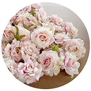 10PCS Artificial Flower Head 10cm Rose Flower for Wedding Decoration DIY Wreath Gift Floral Silk Party Flower 101