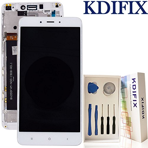 KDIFIX For Xiaomi Hongmi Redmi note 4x Global Version LCD Touch Screen Assembly + Frame with Full Professional Repair Tools kit (WHITE+FRAME)