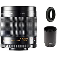 500mm f/8.0 Telephoto Mirror Lens + 2x Teleconverter = 1000mm For Nikon D3100, D3200, D3300, D5100, D5200, D5300, D5500, D7100, D7200, DF, D3, D4, D90, D500, D600, D610, D700, D750, D800, D810 DSLR