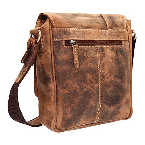 Venta Al Por Mayor Precio En Línea 100% Garantizado Greenburry Vintage borsa a tracolla pelle 25 cm brown VG3usoN