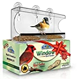 glass bird whistle - Window Bird Feeder by Chillax with Strong Suction Cups for Outdoors - Unique Large Clear Squirrel Proof Hummingbird Feeders used Outside - Perfect Gift for Kids, Adults and Wild Cardinal Lover