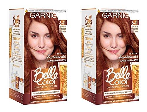 Garnier Belle Color Les Châtains Eclat 6.41 Châtain Très Clair Cuivré Sage - Lot de 2 C6063174