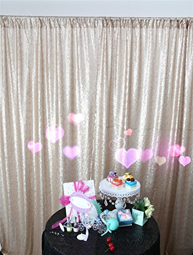 DUOBAO Sequin Backdrop 7FTx4FT Champagne Seuqin Photo Booth Curtain For Photography