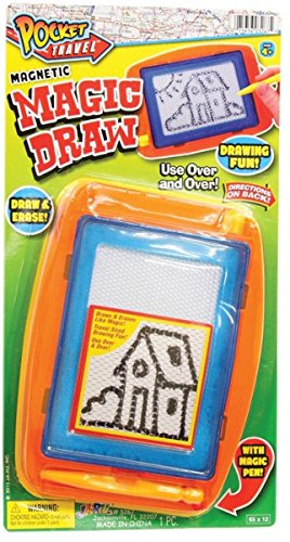 Pocket Travel Magnetic Magic Draw JR-3267 Color & Design May Very
