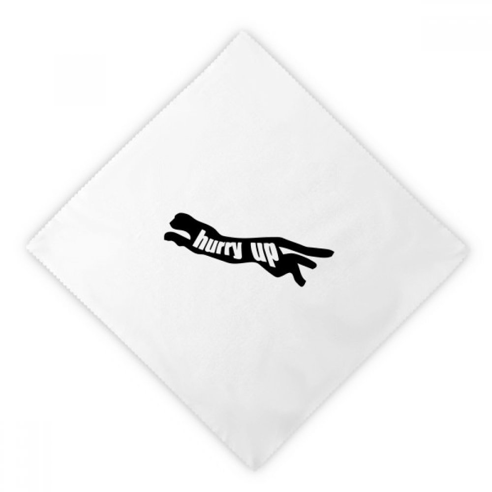 DIYthinker Black Animal Panther Silhouette Natural Dinner Napkins Lunch White Reusable Cloth 2pcs