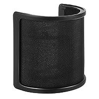 Pop Filter, PEMOTech [Tres capas mejoradas] Micrófono metálico Layer de malla y espuma y Etamine. Pop Filter, Micrófono Parabrisas, Máscara de escudo de micrófono de mano para grabación vocal, videos de YouTube, streaming