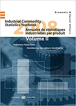 Industrial Commodity Statistics Yearbook 2008: Physical Quantity Data (Vol.I) & Monetary Value Data (Industrial Statistics (Ser. P))