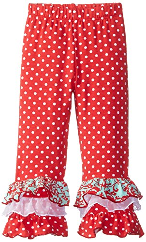Flap Happy Dots (Flap Happy Baby Girls' Triple Ruffle Pant, Red Dot, 18 Months)