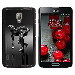Paccase / Hard Protective Case Cover for - Mech Robot - LG Optimus L7 II P710 / L7X P714