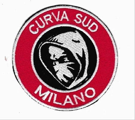 1278 Patch Curva Sud Milan Toppa termoadesiva Ricamo cm 8,5 x 8 Replica