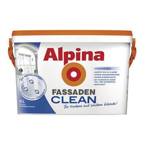 ALPINA FassadenCLEAN Außenfarbe weiß 10 L., selbstreinigend NEU
