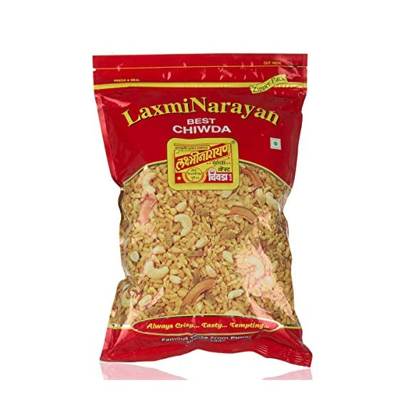 Laxminarayan Chiwda - Pune | Indian Snacks | Namkeen (Poha Chiwda 500g)