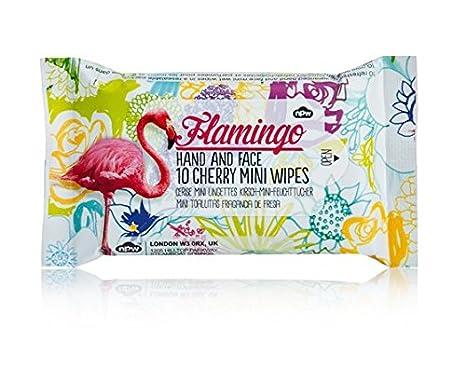 NPW - Toallitas húmedas de bolsillo Viaje Pack de 10 toallitas Flamingo con perfume de cereza: Amazon.es: Salud y cuidado personal
