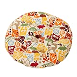 Country Style Home/Office Round Chair Cushion Floor Cushion Pillow Seat Pad, No.12