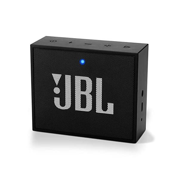 JBL Go+ enceinte Bluetooth Portable - Baffle avec Kit Mains-libres et Réduction de Bruit - Non Étanche - Autonomie 5hrs - Qualité Audio JBL - Noir 1