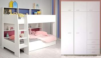 expendio Kinderzimmer Tamina 12 weiß Etagenbett mit ...