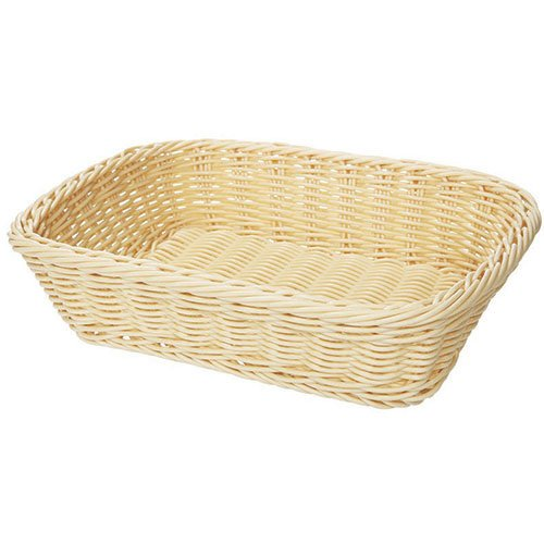 Poly Basket - G.E.T. Enterprises WB-1508-BL Poly Woven Basket Rectangular, 11-1/2