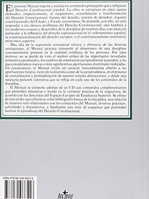 Derecho Constitucional: Contiene CD Derecho - Biblioteca Universitaria De Editorial Tecnos: Amazon.es: Álvarez Conde, Enrique, Tur Ausina, Rosario: Libros