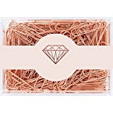 MultiBey Rose Gold Paper Clips Non-Skid Smooth Finish Steel Wire Medium Large Size 200pcs 28mm per Box (28mm)