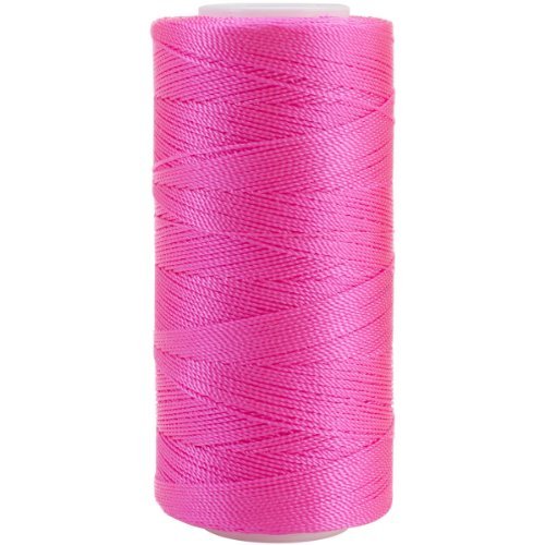 Iris 2-416 Nylon Crochet Thread, 300-Yard, Bright Pink by IRIS USA, Inc. (Image #1)