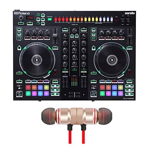 Roland DJ-505 Serato DJ Pro Controller Includes Free Wireless Earbuds - Stereo Bluetooth In-ear Earphones