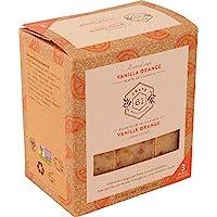Crate 61 Vanilla Orange Soap 3 pack, 100% Vegan Cold Process, scented with premium essential oils, for men and women…