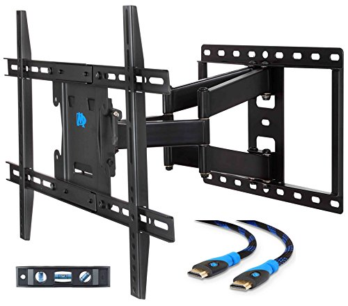 Mounting Dream MD2296 TV Wall Mount Bracket for most 42-70 Inch LED, LCD and OLED Flat Screen TV, with Full Motion Swivel Articulating Arms, up to VESA 600 x 400mm and 100 LBS