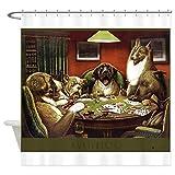 CafePress Waterloo Dog Poker Shower Curtain Decorative Fabric Shower Curtain (69''x70'')