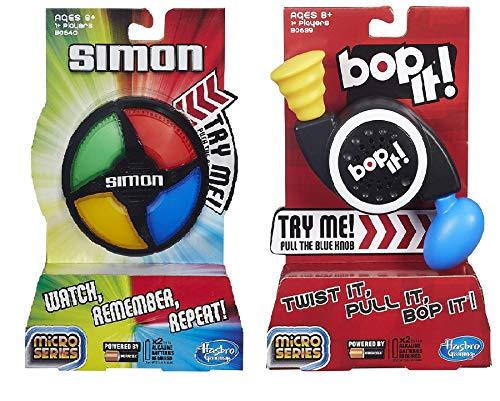 Hasbro Simon & Bop It Micro Series Game Bundle 2 Pack Gift Set