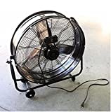 USA Premium Store Industrial Shop 24 Inch Portable Tilt Blower Floor Fan Factory Garage Commercial