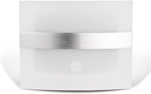 FreeLeben LED del Sensor de Movimiento con Pilas del Aplique de la Pared Luces del Punto de la lámpara de Interior Noche, Luz de Pasillo Escalera Armario Baño Blanco frío: Amazon.es: Hogar