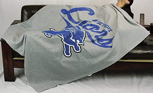 The Northwest Company Detroit Lions NFL Sweatshirt Throw Blanket, Grey