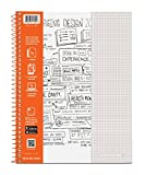 Case of 12 Whitelines Notebooks, Grey Lined
