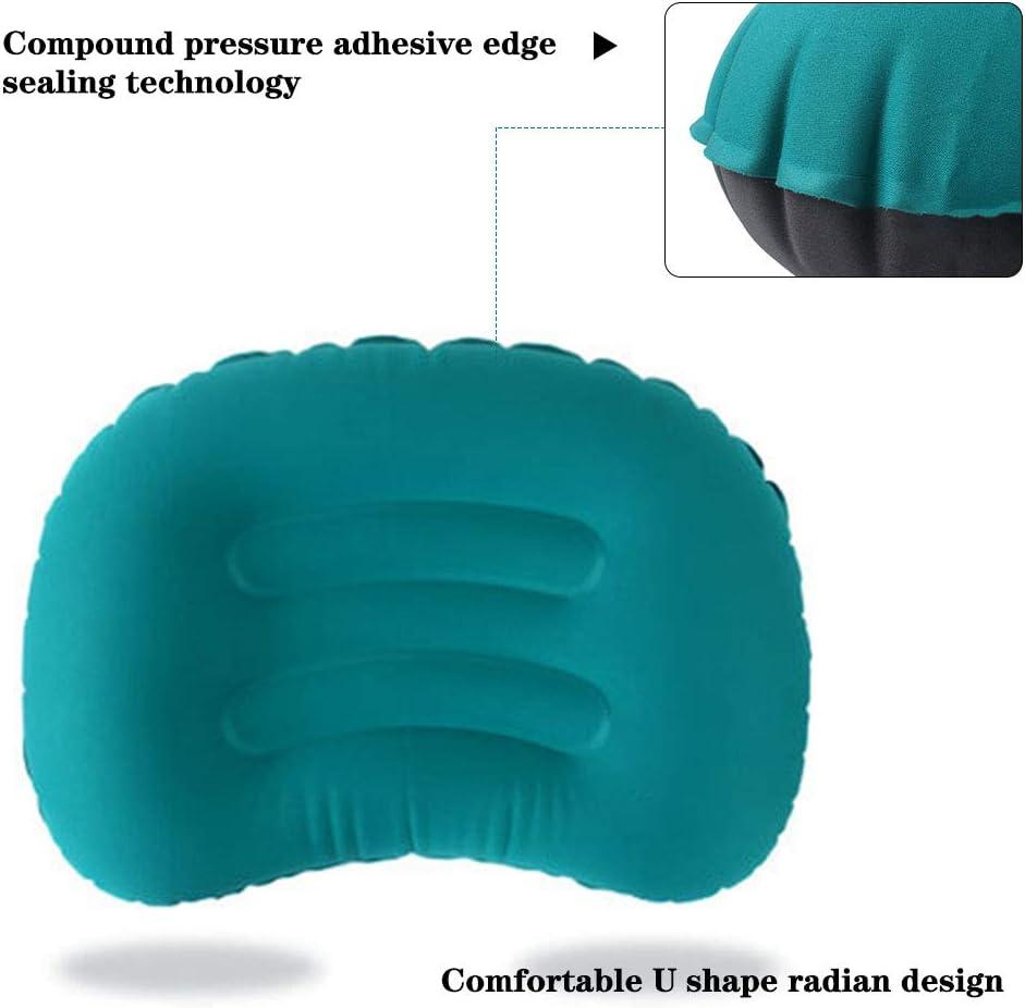 Luyao Cuscino da campeggio portatile Cuscino da viaggio gonfiabile Cuscino da viaggio comprimibile Cuscino da collo per dormire Accessori da campeggio da viaggio