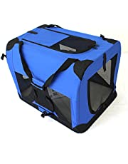 PETJOINT Pet Travel Carrier Soft Crate Portable Puppy Dog Cat Kitten Cage Kennel Home House Blue