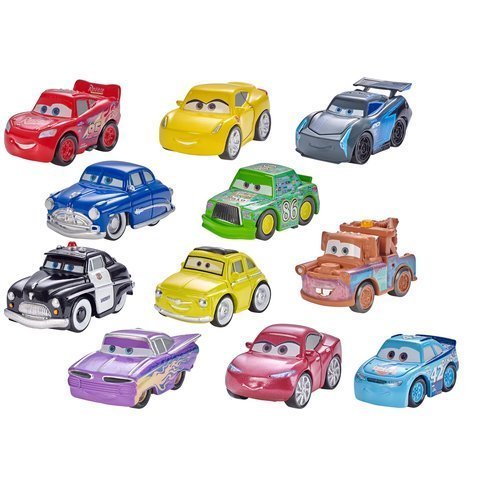 Disney Pixar Cars 3 Real Diecast Mini Racers Complete Set of First 12 Sealed Bag