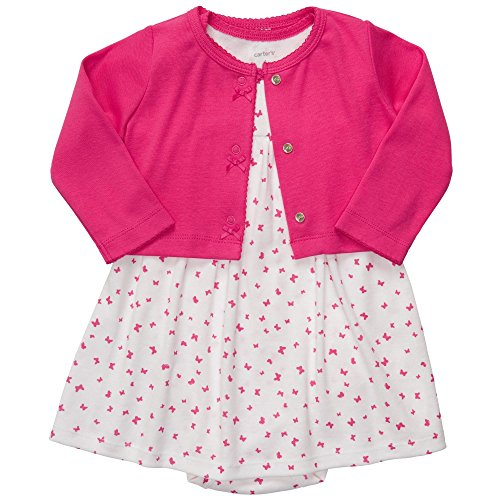Carter's Baby Girls' 2 Pc Dress Set - Pink Butterfly - 6 - Girl Posh Baby