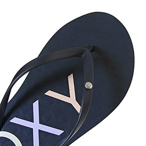 Roxy Women's Sandy Flip Flops, Grey, 4 UK Navy