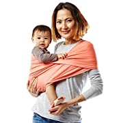 Baby K'tan ACTIVE Baby Carrier, Coral Sport Mesh (S)