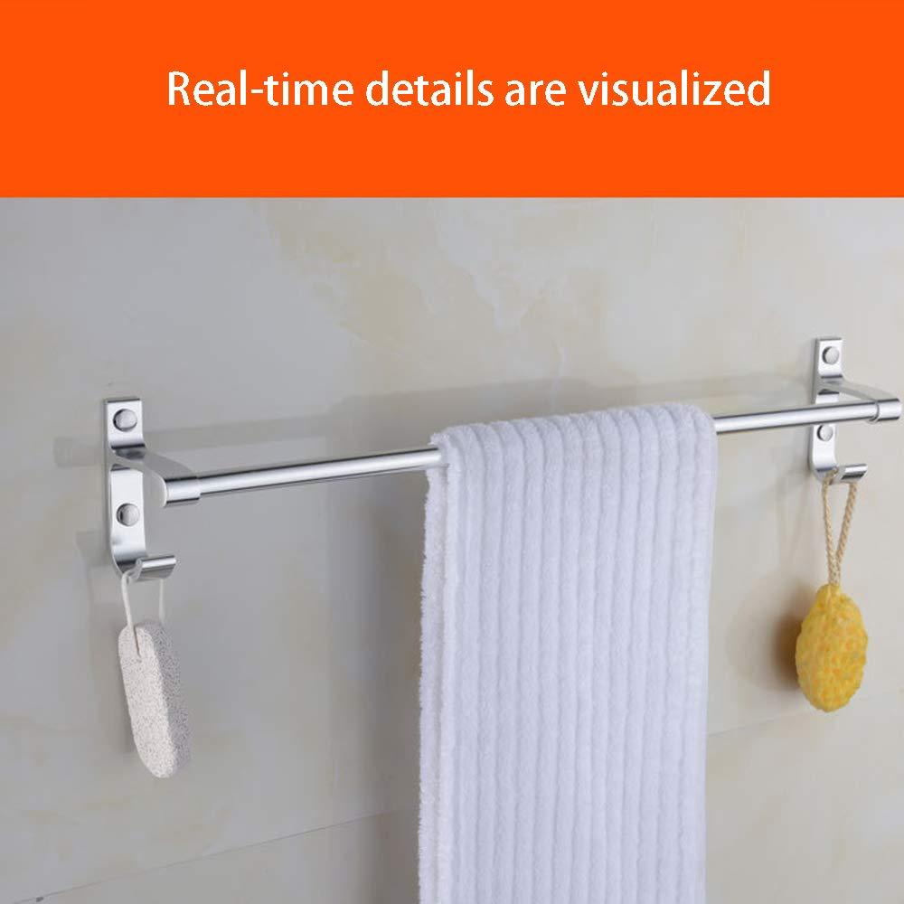 Handtuchhalter 40cm Ohne Bohren Selbstklebend Handtuchstange Haken K/üchen H/ängeleiste Sp/ültuchhalter Handtuchst/änder Wand f/ür Badezimmer Bad Ohne Bohren