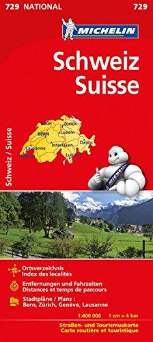 Michelin Schweiz: Straßen- und Tourismuskarte (MICHELIN Nationalkarten, Band 729)